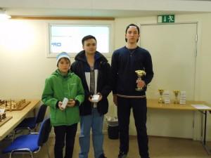 Svenska mästare- från vänster Axel, Martin och Theodor. David saknas på bilden. Foto Limhamns SK
