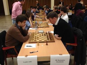 Erik Hedman till höger- bakom honom syns Theodor, Thomas och Jonas- alla vann idag! Foto Tony Hanoman