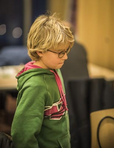 Hampus Sörensen imponerar trots att han är en av de lägst rankade i Rilton Elo. Foto Lars OA Hedlund