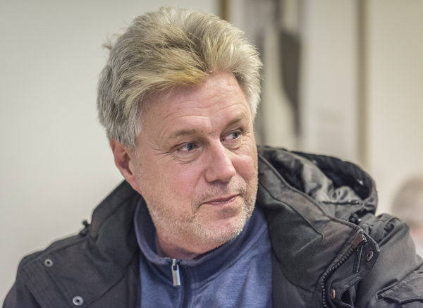 Lasse Karlsson mellan ronderna. Foto Lars OA Hedlund