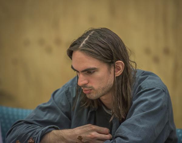 En koncentrerad Michael Backman. Foto Lars OA Hedlund
