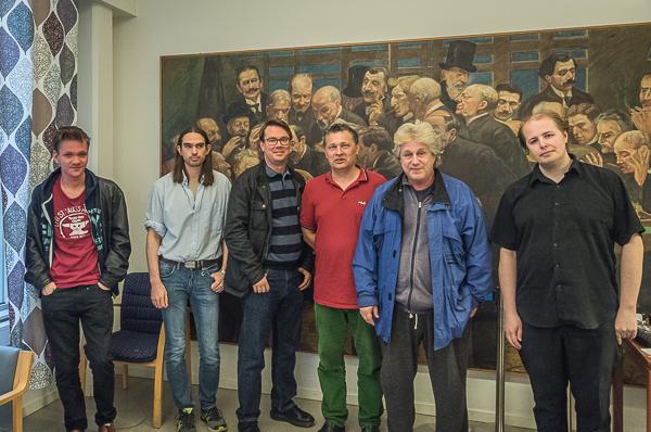 Från vänster- Joar, Michael, Erik, Robert, Lasse och Stefan. Foto Lars OA Hedlund