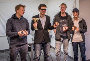 Felix Tuomainen, David Bit-Narva, Gustav Halvarsson och Axel Berglind
