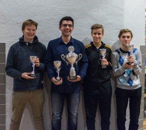 Det segrande laget från vänster- Felix, David, Leo och Axel. Foto Lars OA Hedlund